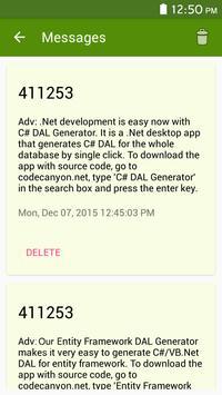 Live sms messages filter screenshot 3