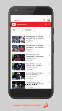 The IAm Venus Williams App apk screenshot