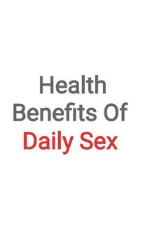Health Benefits Of Daily Sex poster