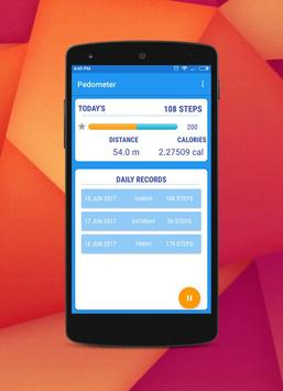 Pedometer, Calorie & Step Counter App For Fitness poster