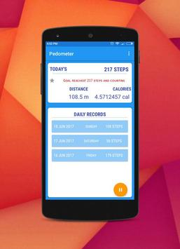 Pedometer, Calorie & Step Counter App For Fitness apk screenshot