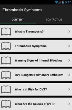 Thrombosis Symptoms apk screenshot