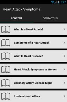 Heart Attack Symptoms screenshot 1