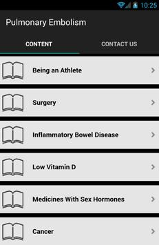 Pulmonary Embolism Symptoms apk screenshot