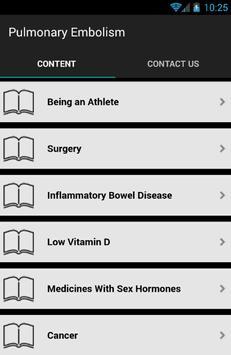Pulmonary Embolism Symptoms screenshot 1