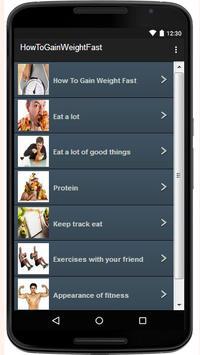How To Gain Weight Fast screenshot 1