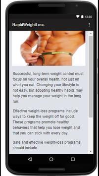 Rapid Weight Loss apk screenshot