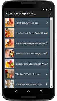 Apple Cider Vinegar For Weight apk screenshot