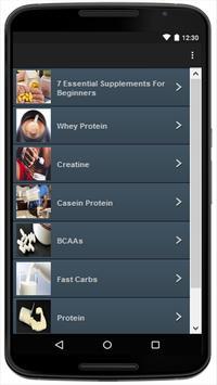 Supplements apk screenshot