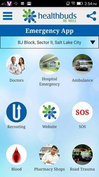 Healthbuds Medical Emergency poster