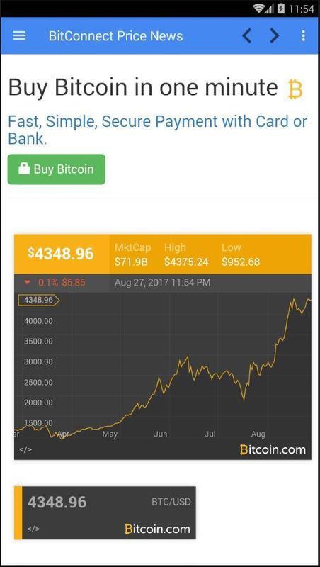 Bitconnect bitcoin price chart news apk download free news bitconnect bitcoin price chart news apk screenshot ccuart Images