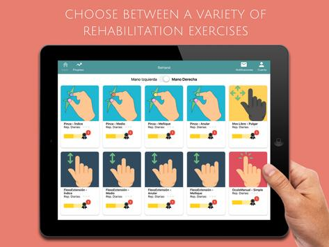 ReHand, Hand Rehabilitation App on the Tablet poster