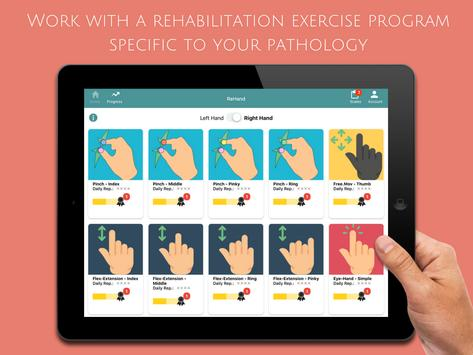 ReHand, Hand Rehabilitation App on the Tablet poster