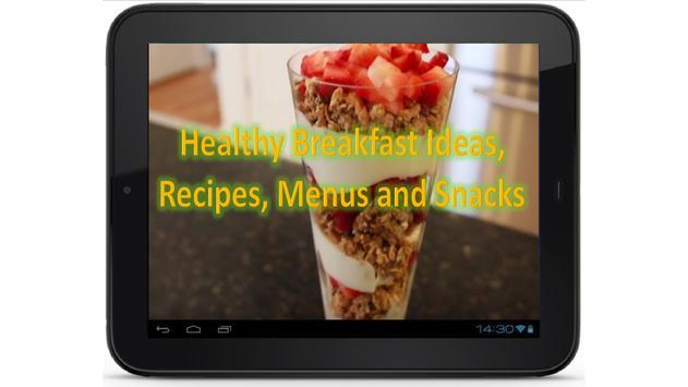 Healthy Breakfast Ideas, Recipes, Menus and Snacks screenshot 3