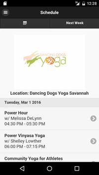 Dancing Dogs Yoga Savannah poster