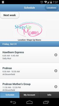 Shape Up Mums Bookings poster
