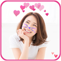 Heart Crown Cat Face Stickers