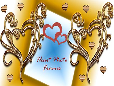 Love Heart Photo Frames Maker poster