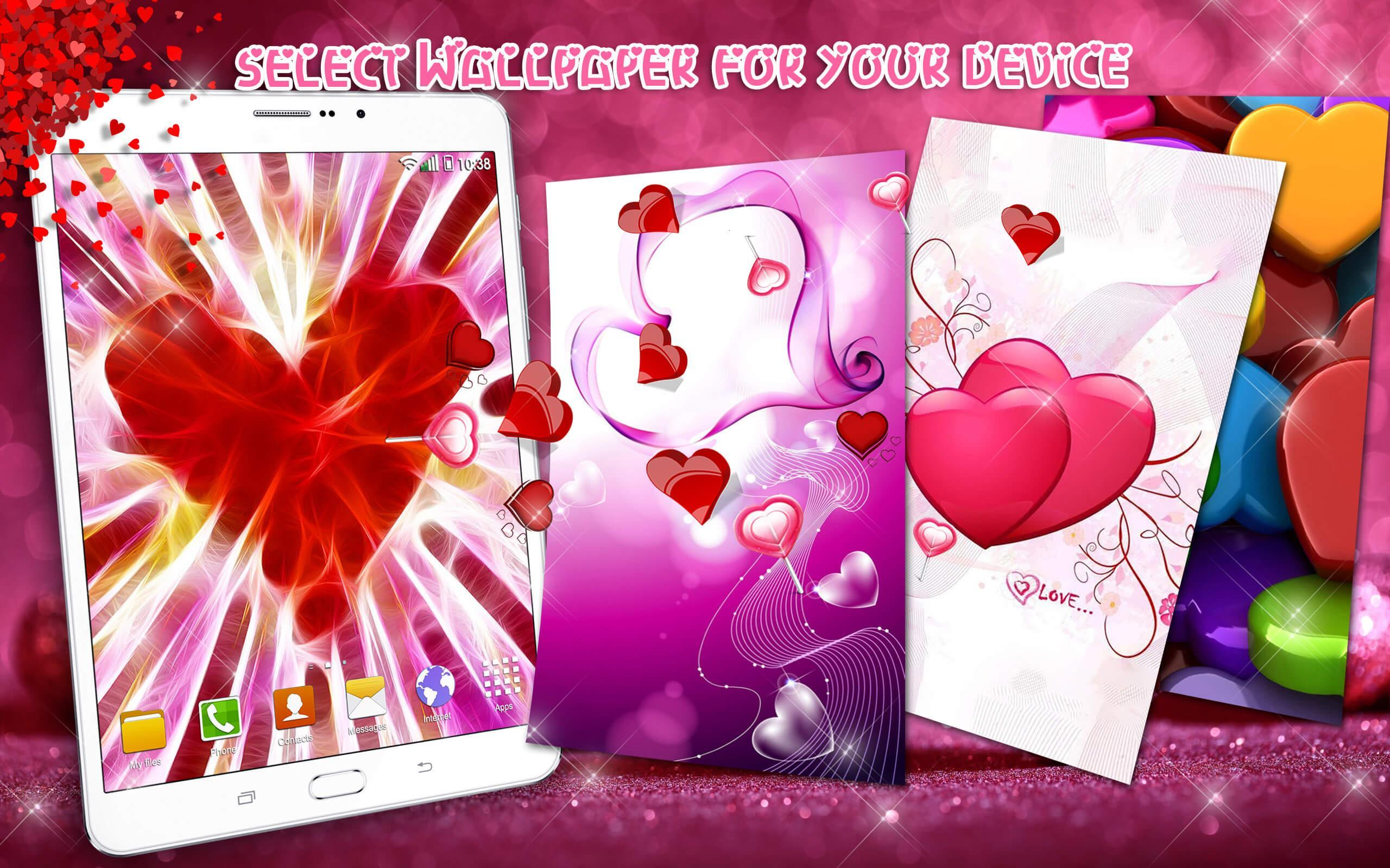 Heart Live Wallpaper 💖 Cute Images of Love Hearts for Android - APK