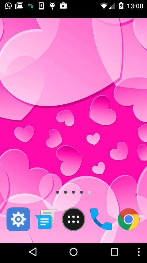 hearts pink wallpaper poster