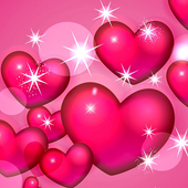 hearts pink wallpaper icon