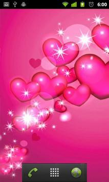 hearts pink wallpaper apk screenshot