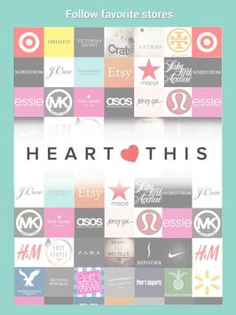 Shop Clothing Sales: HeartThis poster