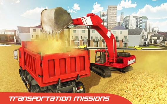 City Construction 2018 : Excavator Crane Simulator screenshot 2