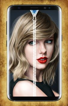 Taylor Swift Zipper Lock Screen poster