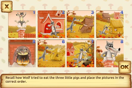 Three Little Pigs - Fairy Tale with Games apk screenshot