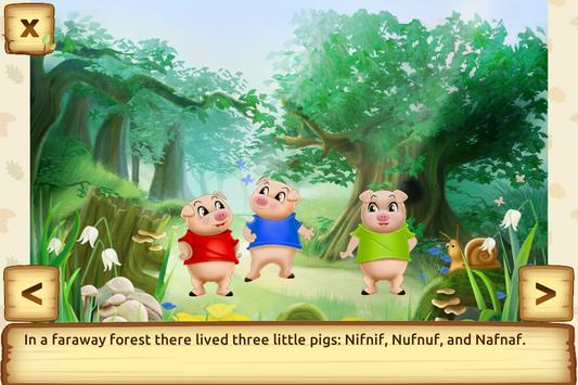 Three Little Pigs - Fairy Tale with Games Free apk screenshot