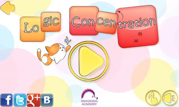 Logic, Memory & Concentration Games Free poster