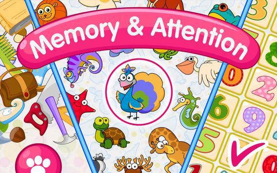 Memory & Attention Training for Kids apk screenshot
