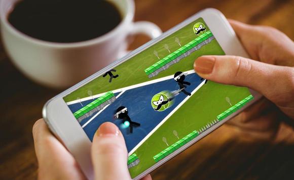 Stickman Run Tennis apk screenshot