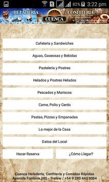 Menú Virtual Heladería y Confitería Cuenca poster