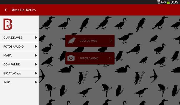 Birds of the Retiro park apk screenshot