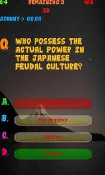 Japan History Knowledge test apk screenshot