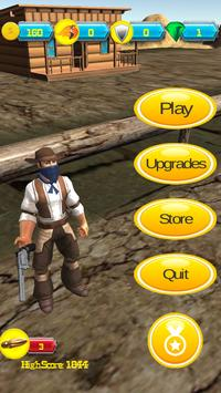 Wild West Cowboy Shooter Run apk screenshot