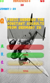 World War 1 Knowledge test apk screenshot