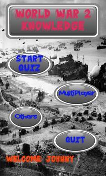World War 2 Knowledge test poster