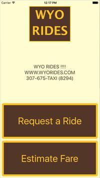 WYO RIDES poster