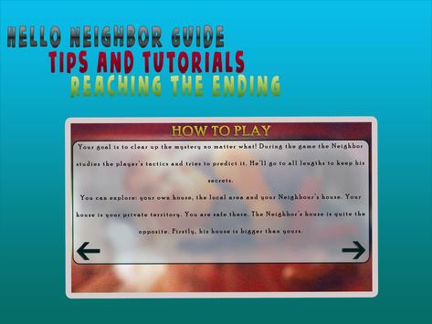 Hello neighbour free guide poster