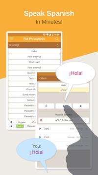 Spanish Phrasebook Learn Free poster