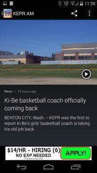 KEPR AM NEWS AND ALARM CLOCK apk screenshot
