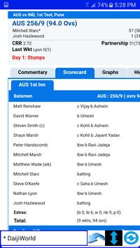 IND v AUS LIVE CRICKET BROWSER apk screenshot
