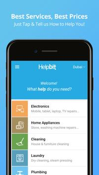 Helpbit- Electronics Repair & Home Services in UAE poster