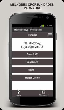 Help Motoboys - Profissional poster