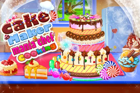 Cake Maker Mania Chef Cooking poster