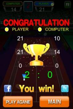Badminton game screenshot 3