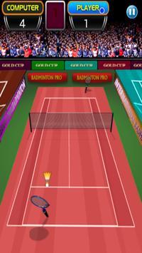 Badminton game poster